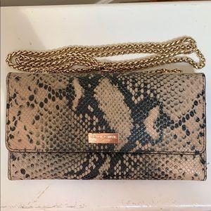 Henri Bendel Snake wallet w/ gold chain